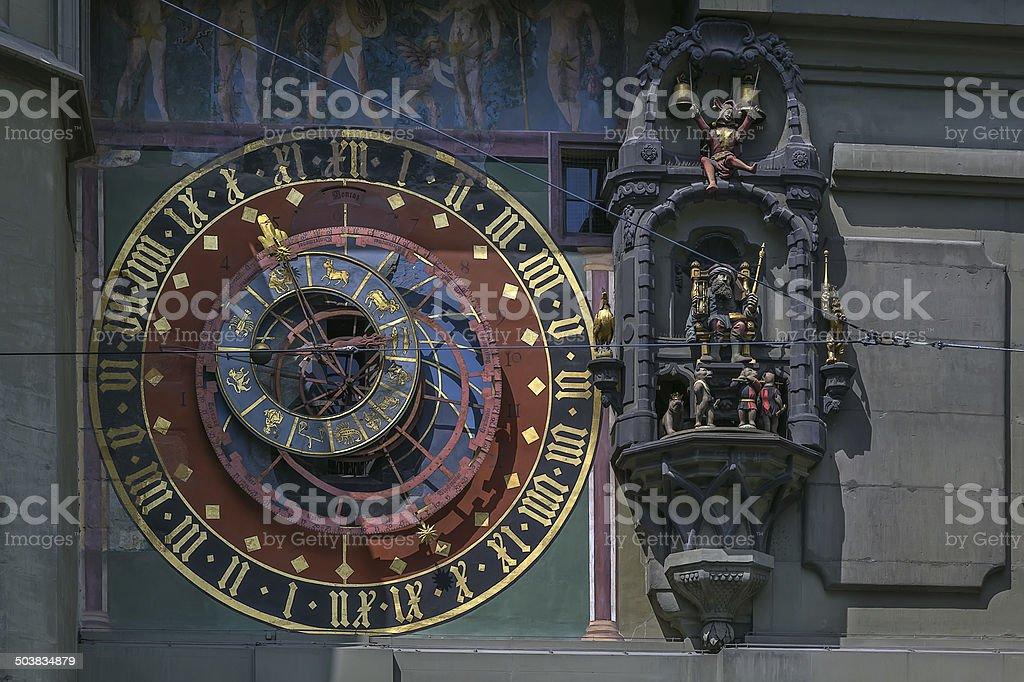 Astronomical clock, Bern stock photo