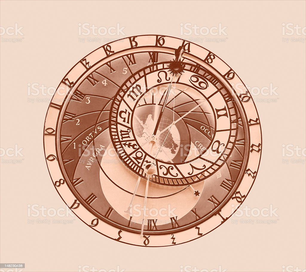Astronomical clock from Prague royalty-free stock photo