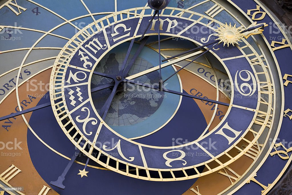 Astronomical clock in Prague Czech republic royalty-free stock photo