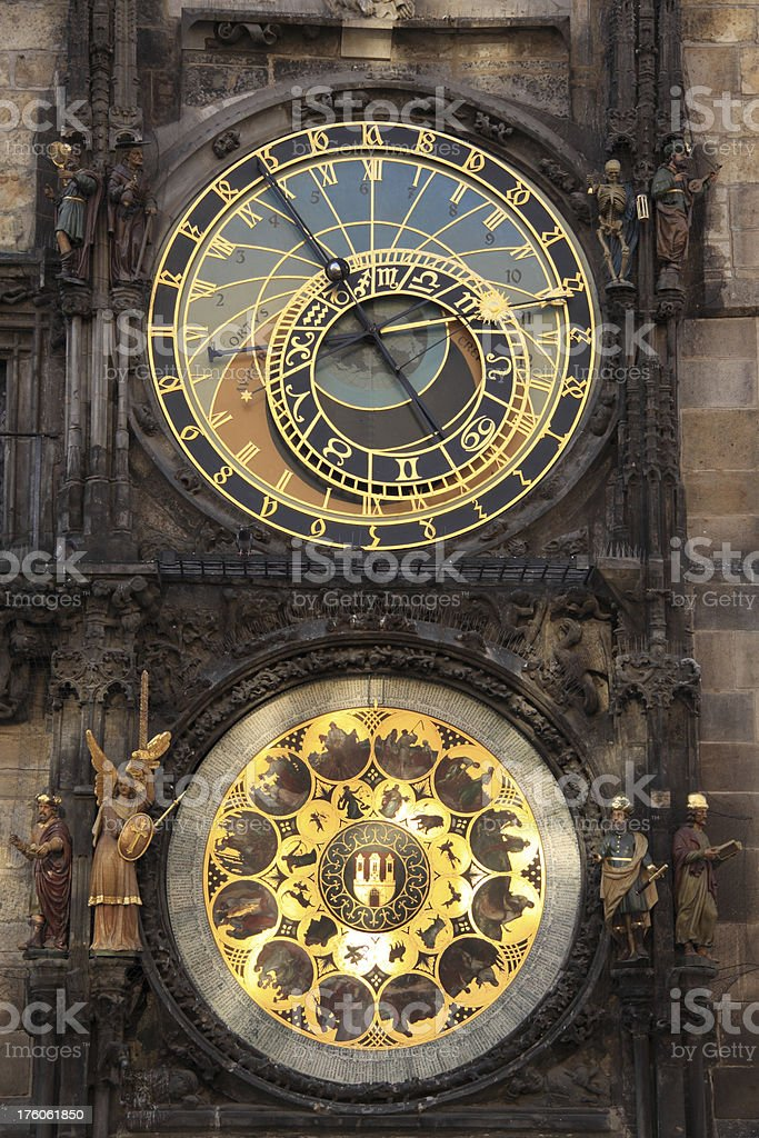 Astronomical clock in Prague, Czech republic royalty-free stock photo