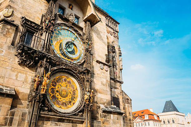 Astronomical Clock In Prague, Czech Republic Prague Astronomical Clock At Old Town City Hall From 1410 Is The Third Oldest Astronomical Clock In World And Oldest One Still Working astronomical clock prague stock pictures, royalty-free photos & images