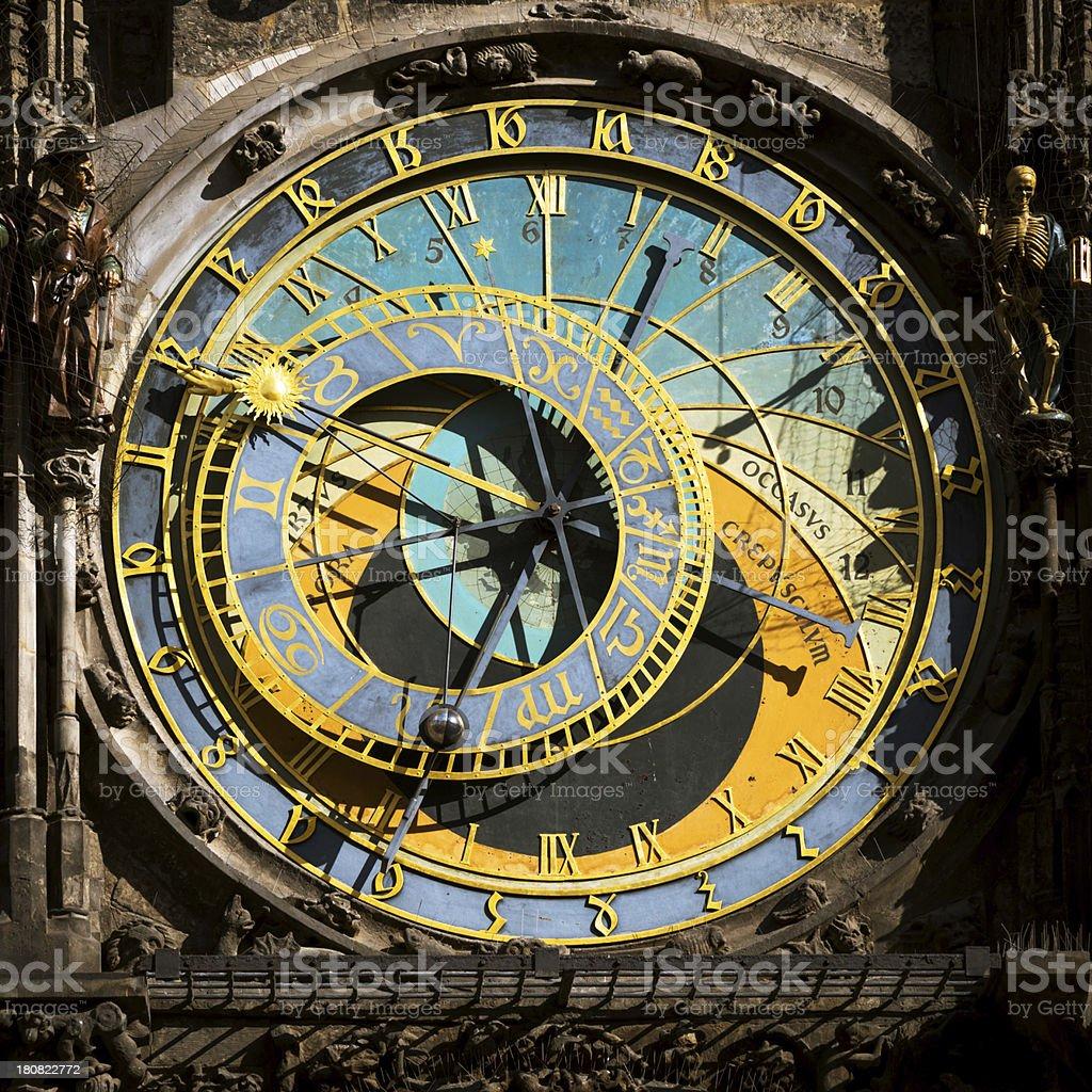 Astronomical clock in Praque, Czech Republic stock photo