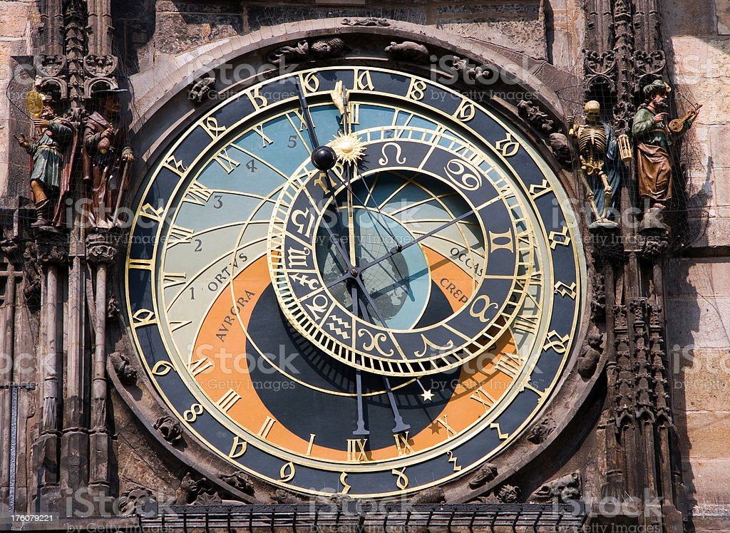 Astronomical clock in Praque royalty-free stock photo