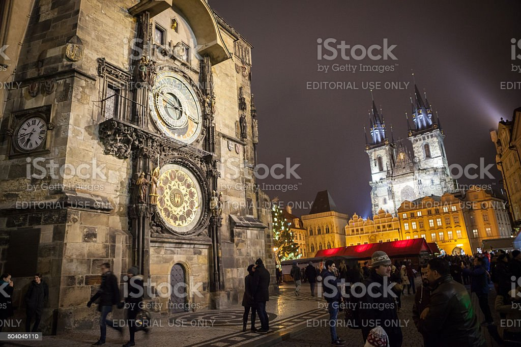 Astronomical Clock in the Old Town Square, Prague stock photo