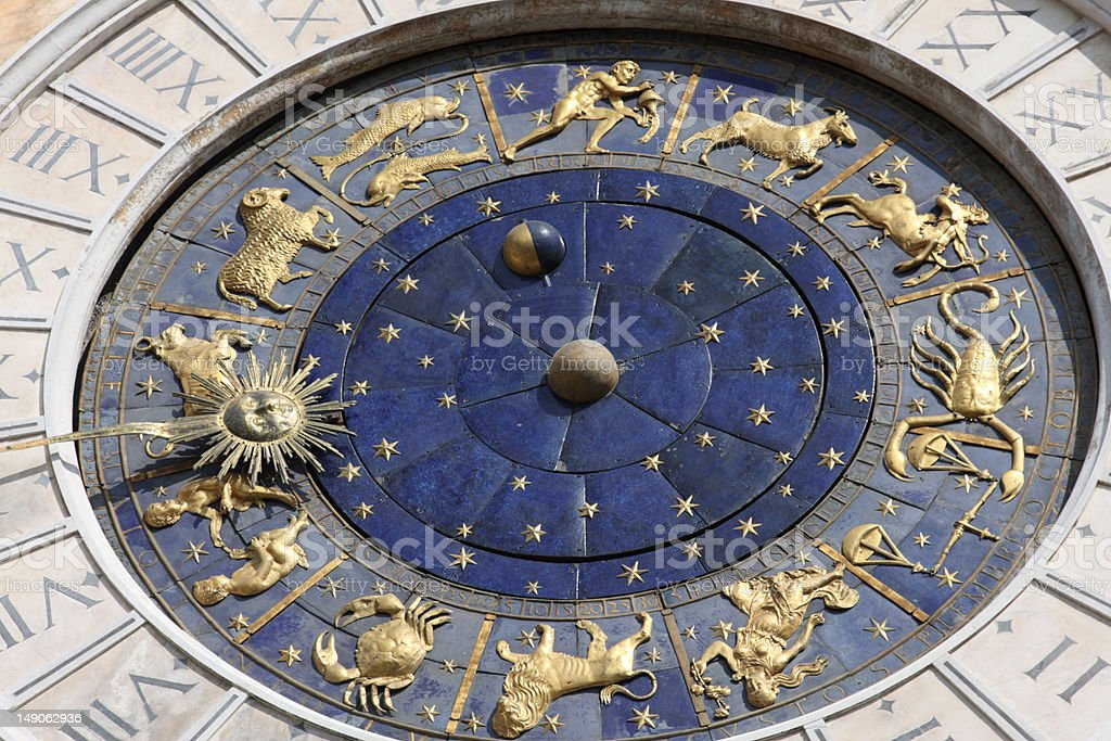 Astronomical clock in Venice, Italy royalty-free stock photo