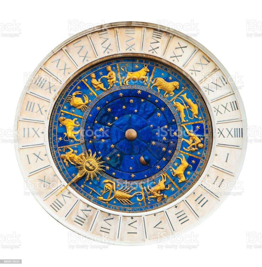 Astronomical clock in Venice stock photo