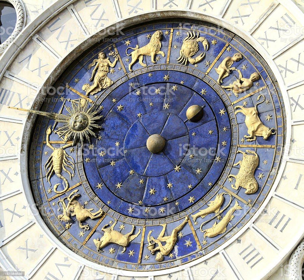 Astronomical Clock in Venice, St. Mark's Square, Italy. stock photo
