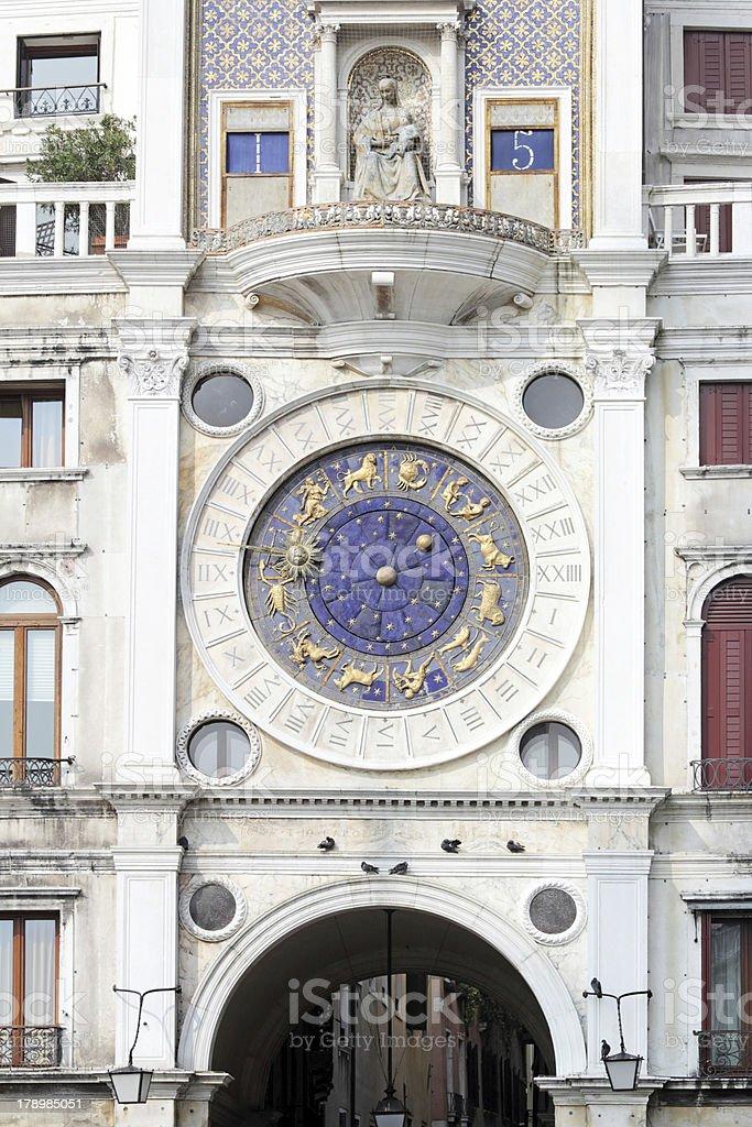 Astronomical Clock in Venice, St. Mark's Square, Italy stock photo