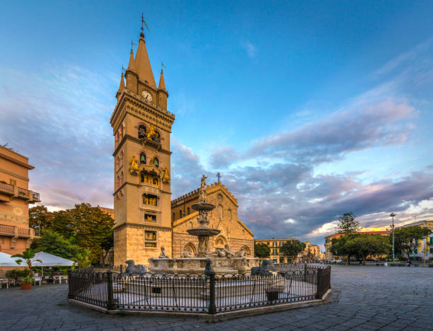Astronomical Clock Of Cathedral Of Messina stock photo