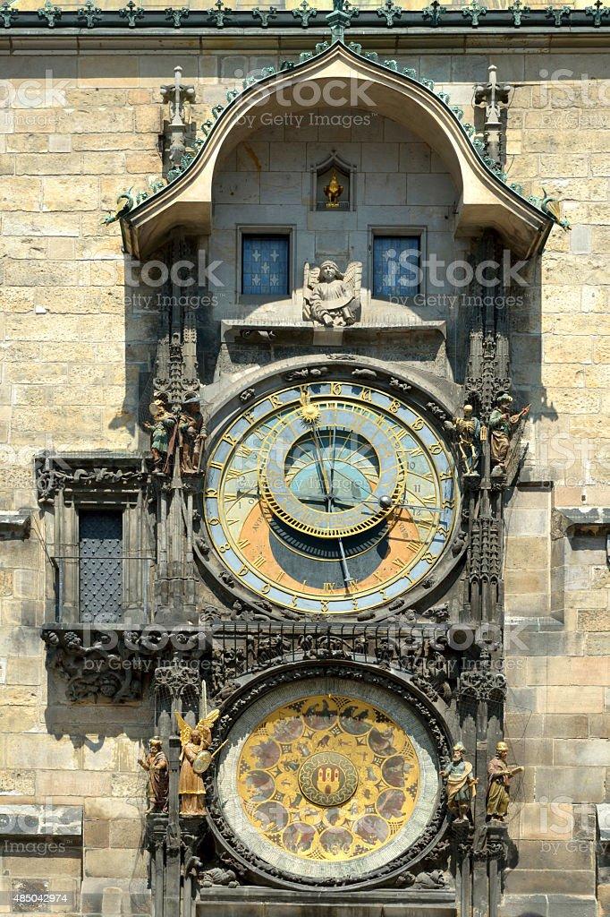 Astronomical clock of Prague - Czech Republic stock photo