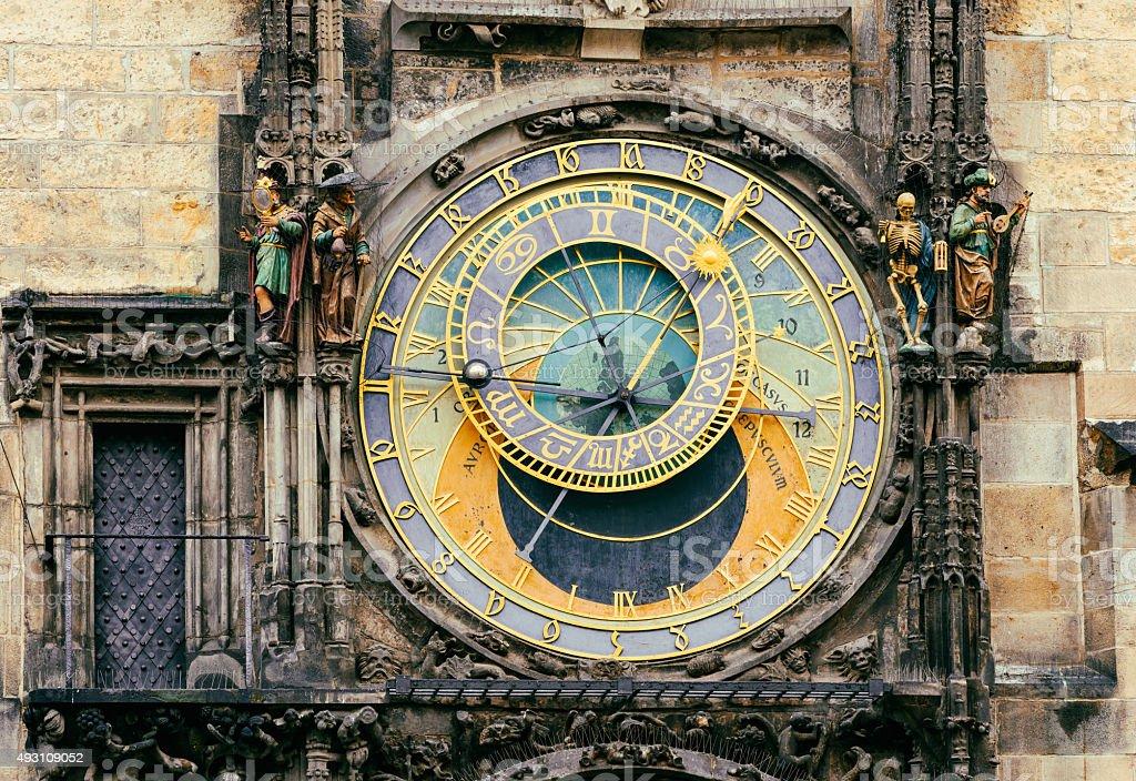 Astronomical Clock Orloj in Prague. Czech Republic stock photo