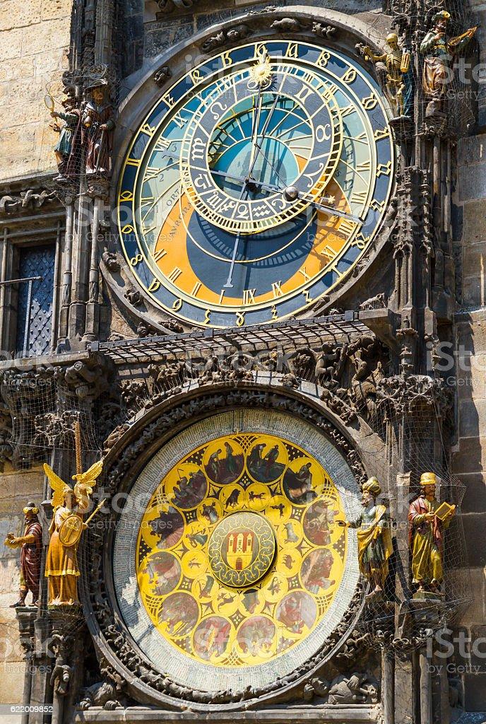 Astronomical Clock Orloj in Prague stock photo