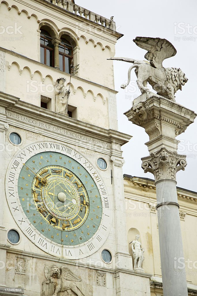 Astronomical Clock Padua - Italy royalty-free stock photo