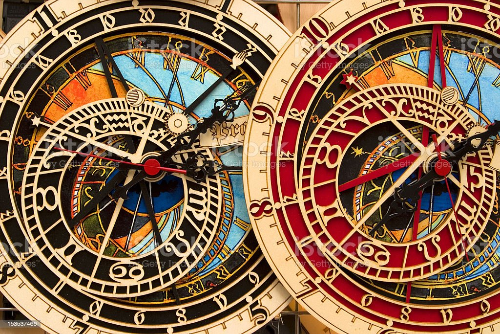 Reloj astronómico - foto de stock
