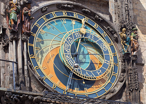 Astronomical Clock The Famous Clock In Prague, Czech Republic wenceslas square stock pictures, royalty-free photos & images