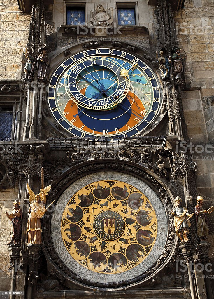 Astronomical clock, Prague royalty-free stock photo