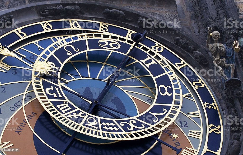 Astronomical Clock Prague royalty-free stock photo