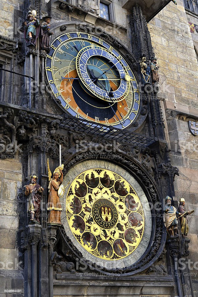 Astronomical Clock, Prague stock photo