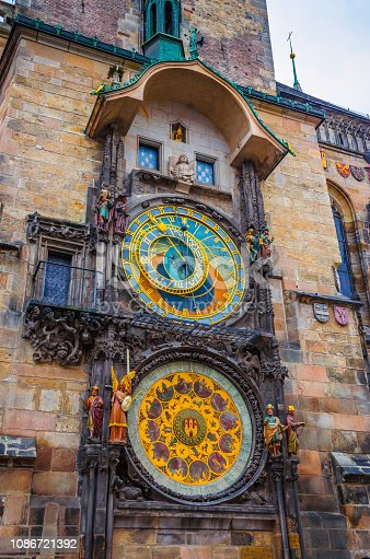 Astronomical Clock Tower in Old Town Prague, Czech Republic.