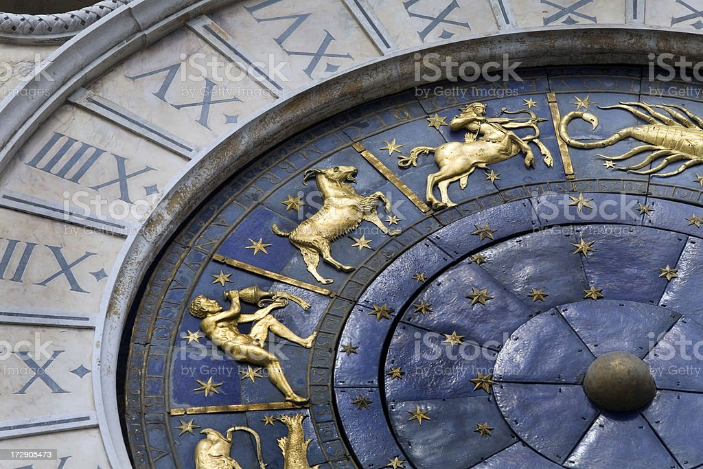 Astronomical Clock Venice Italy royalty-free stock photo