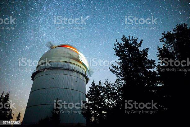 Photo of Astronomical Observatory under the night sky stars