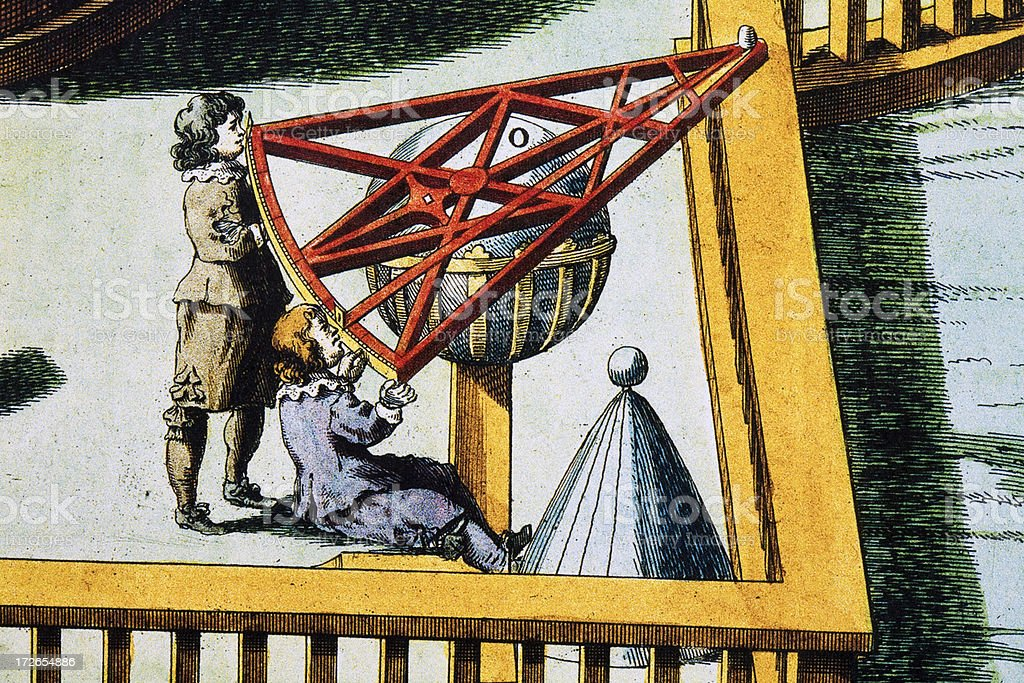 Astronomical Sextant for Measuring Heights stock photo