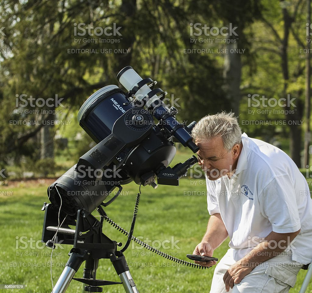 Astronomy Day Solar Viewing stock photo