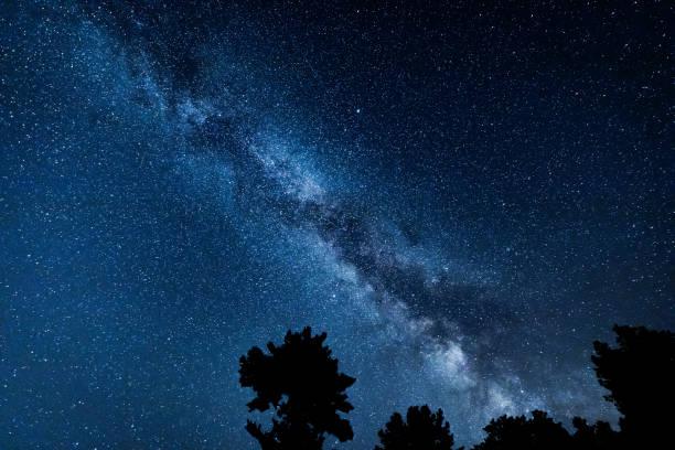 Astronomy Photography of the Milky Way Galaxy stock photo