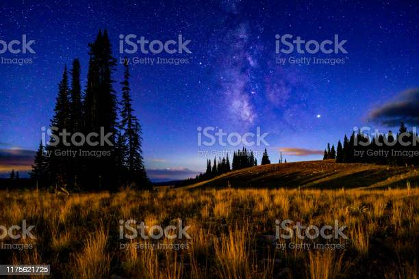 Photo of Astrophotography Landscape with Subtle Moon Glow