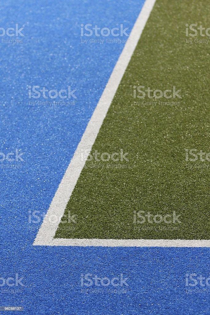 Astroturf Sports Field Corner royalty-free stock photo