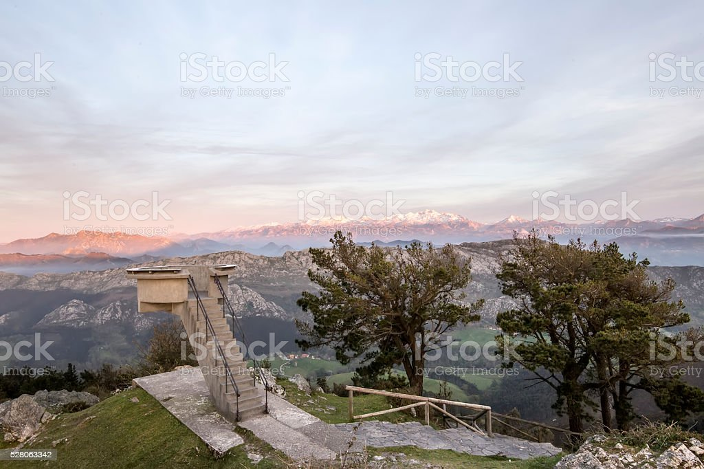 Asturias viewpoint stock photo