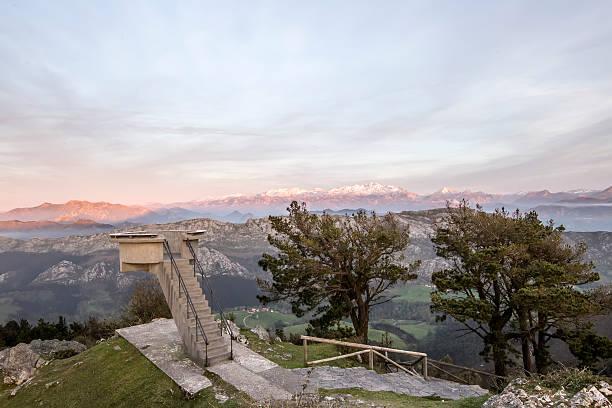 Asturias viewpoint stock photo