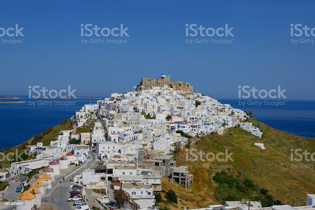 Astypalaia chora stock photo