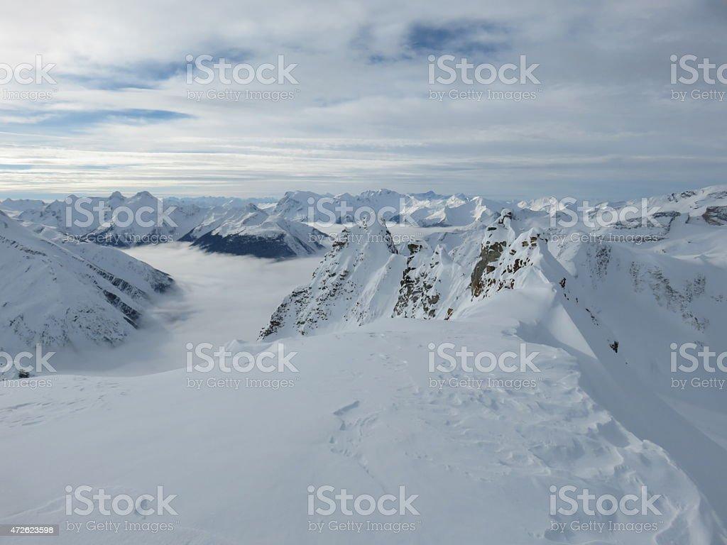 Asulkan Backcountry Summit stock photo