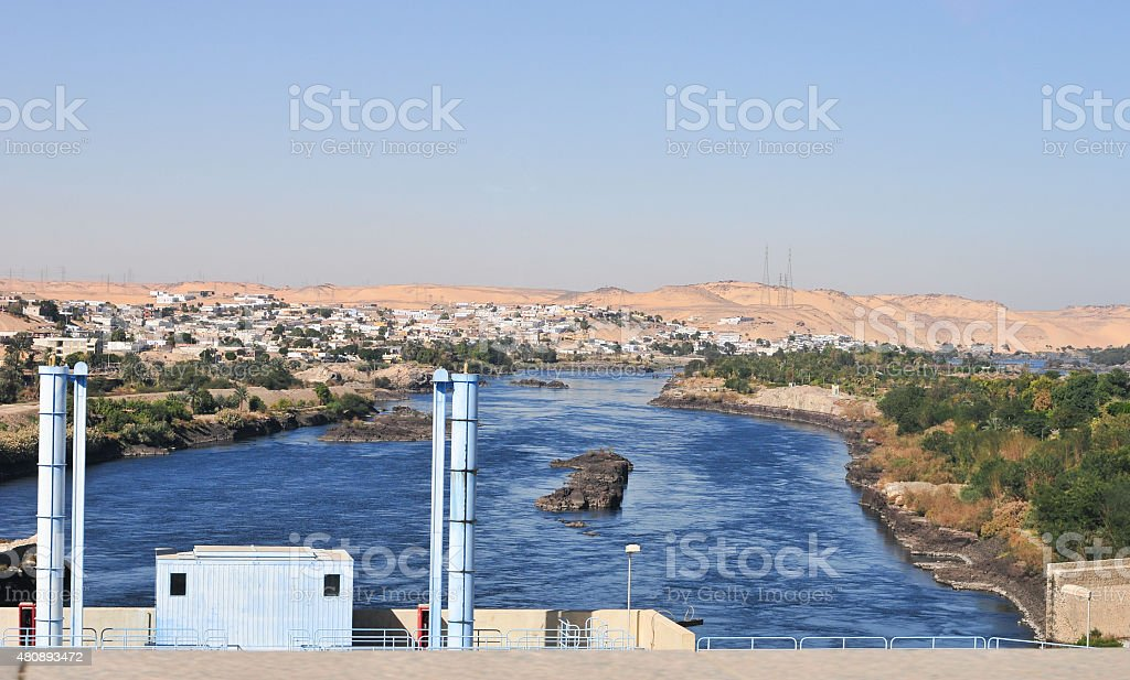 Aswan Dam, Egypt stock photo