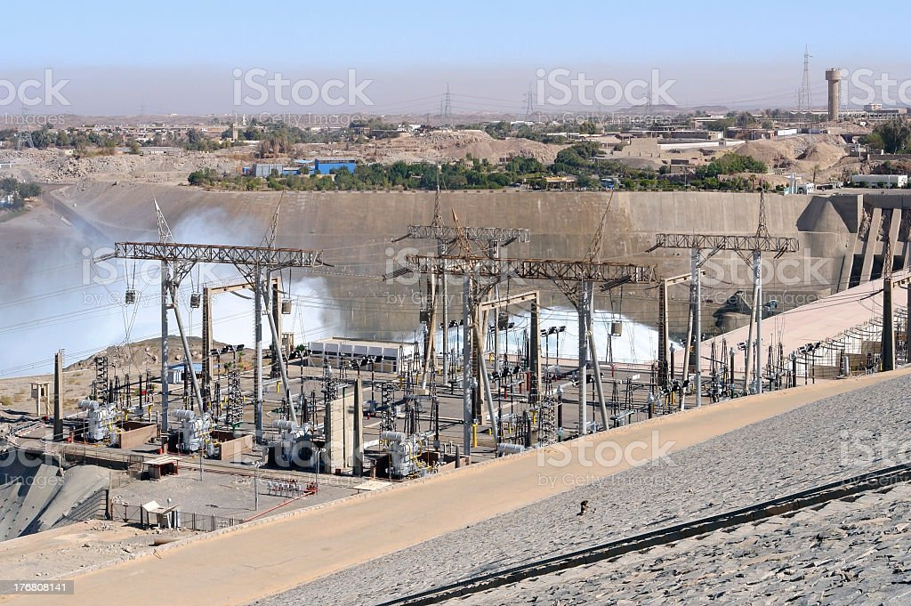 Aswan Dam in Egypt stock photo