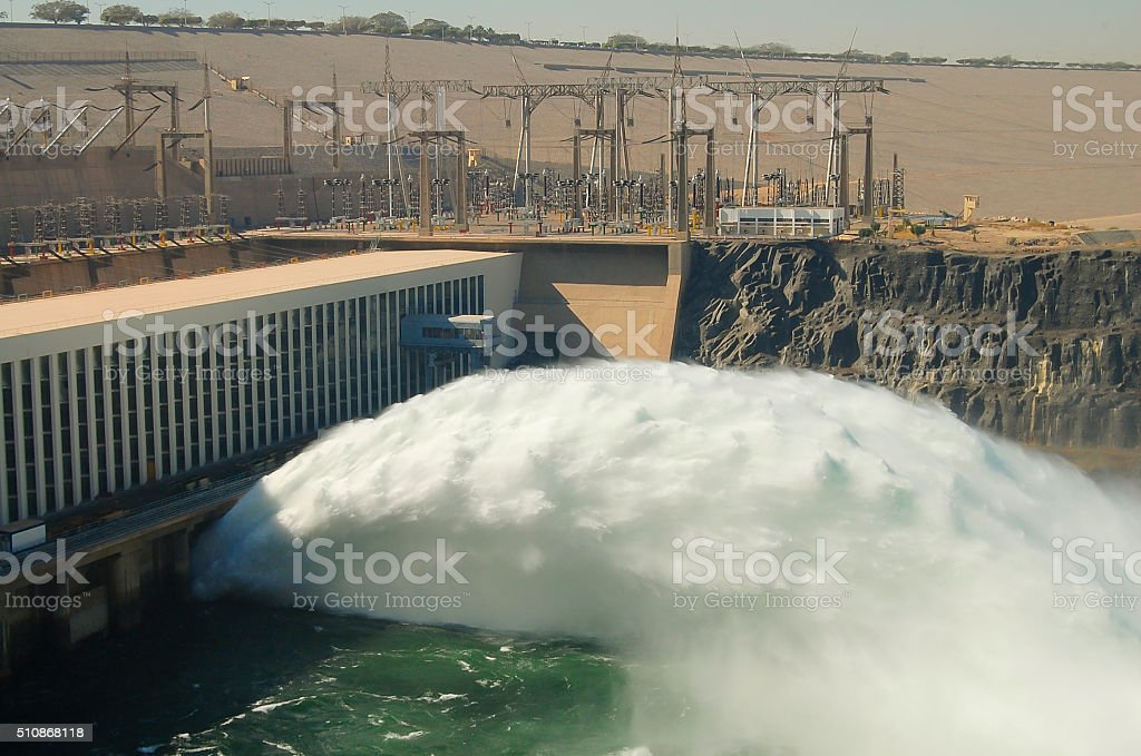 Aswan High Dam - Aswan - Egypt stock photo