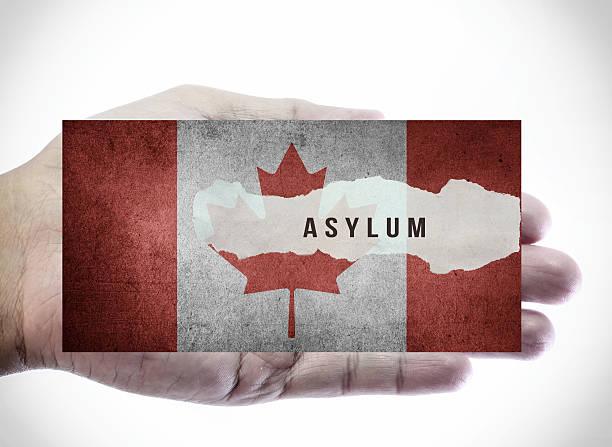Asylum on Canadian flag. – Foto