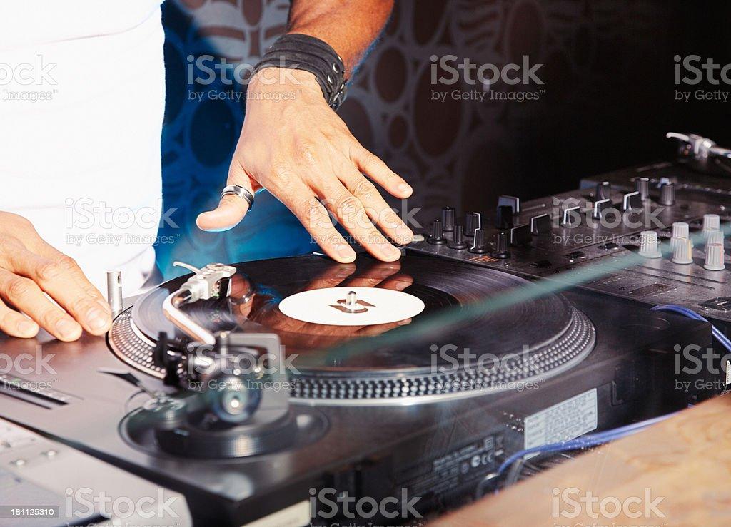 A DJ at a club stock photo