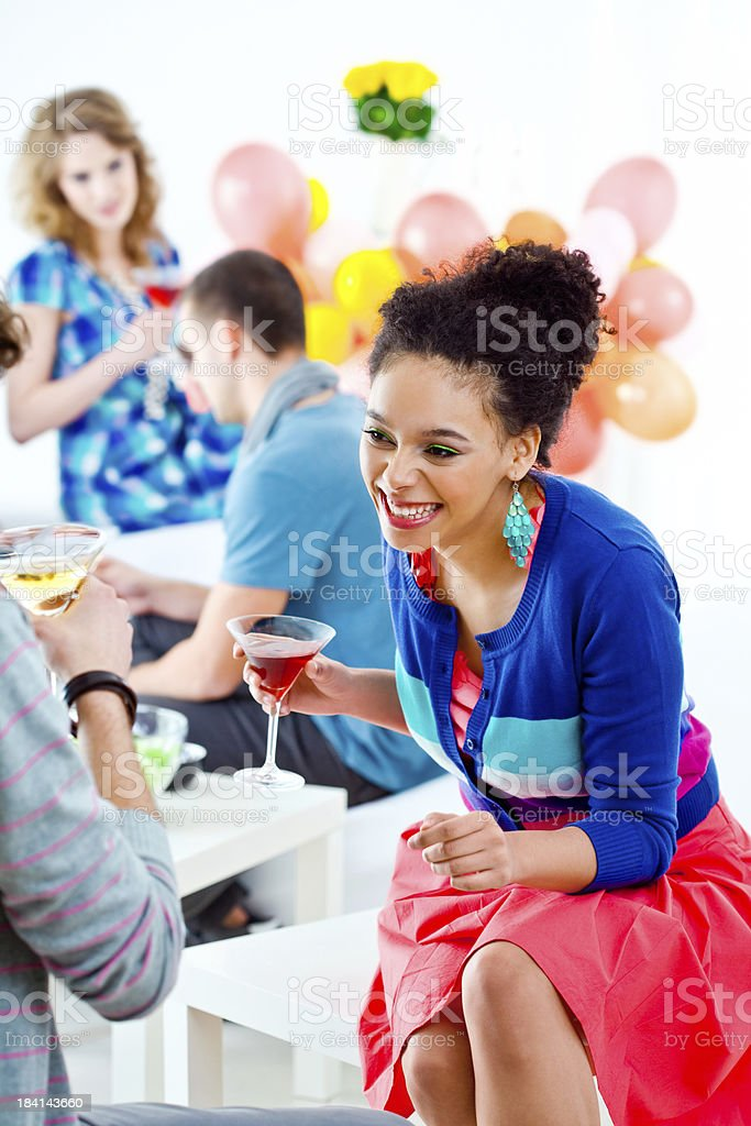 At a Home Party royalty-free stock photo