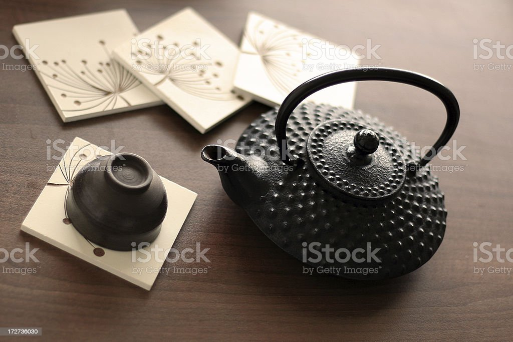 At a Teahouse stock photo