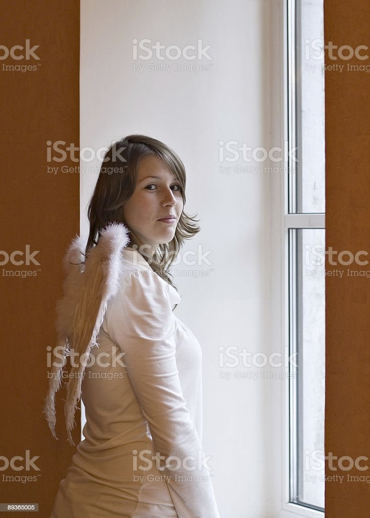 At a window royalty-free stock photo