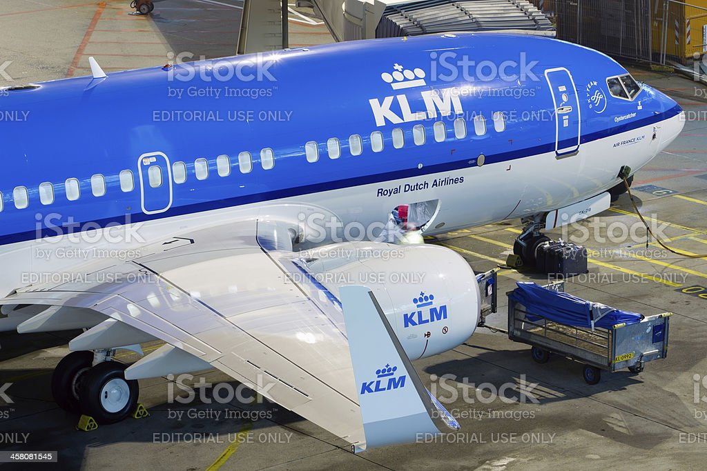 KLM 737-800 at Amsterdam Schiphol airport stock photo