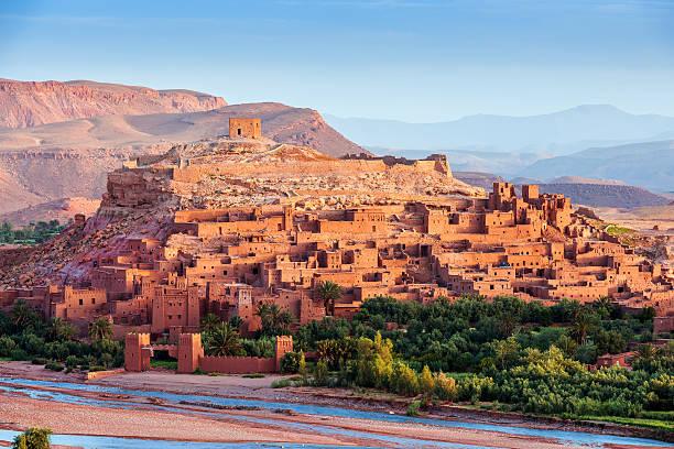 aït ben haddou - ancient city in morocco north africa - kasbah bildbanksfoton och bilder