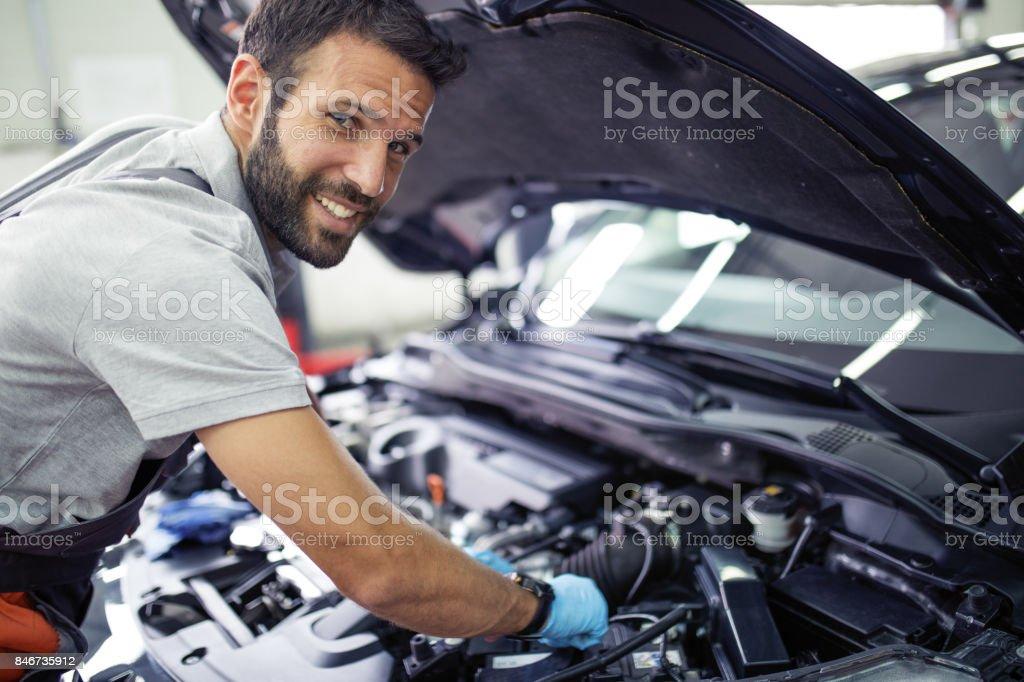 車のサービスで ストックフォト