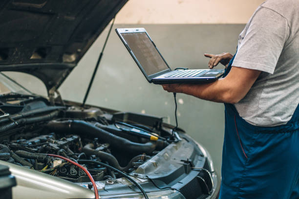 At car service Car diagnostic diagnostic equipment stock pictures, royalty-free photos & images