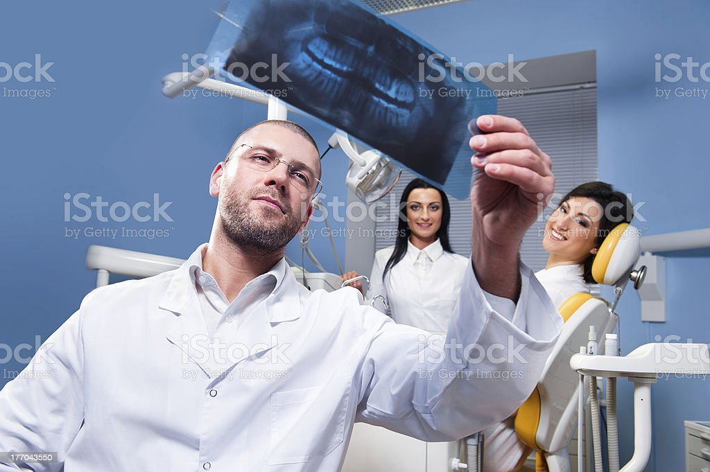 At dental clinic royalty-free stock photo