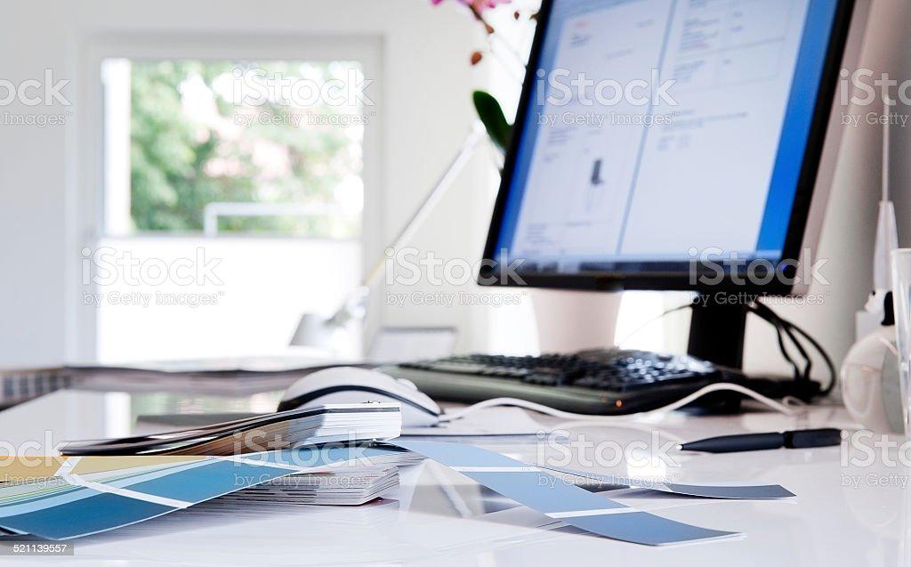 At design studio stock photo