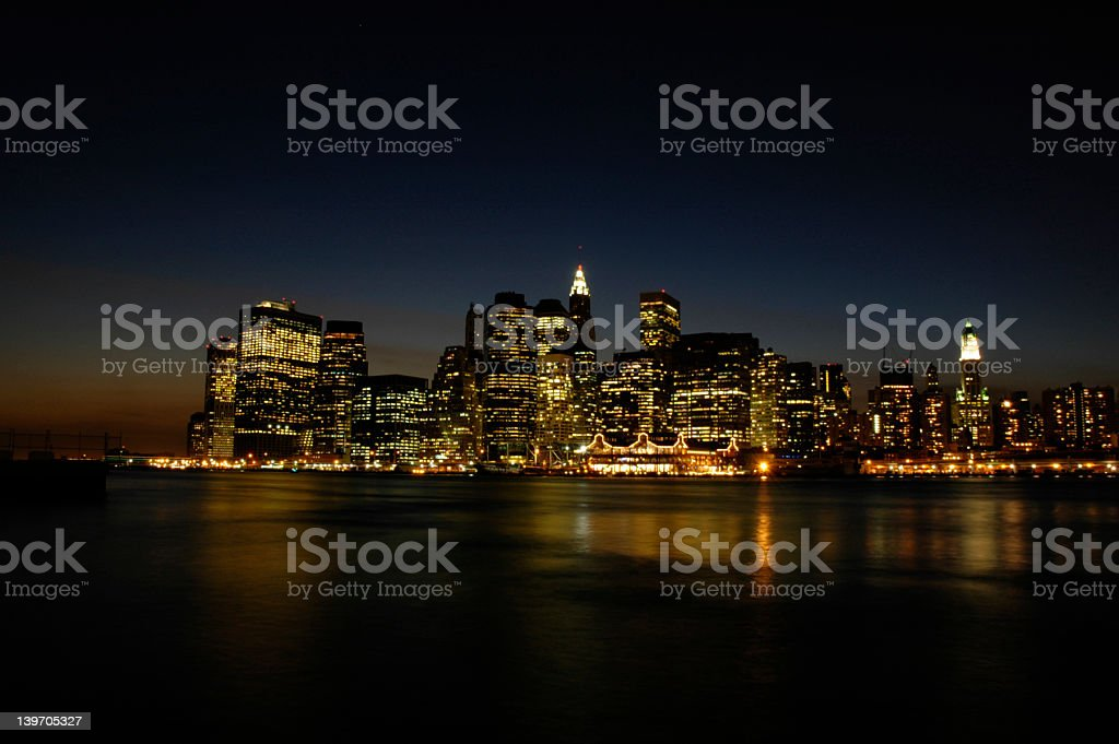 NYC at Dusk royalty-free stock photo