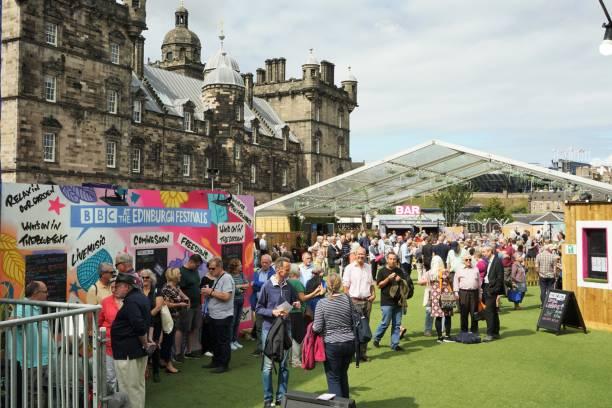 BBC at Edinburgh Festival stock photo